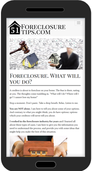 mobile web design foreclosure